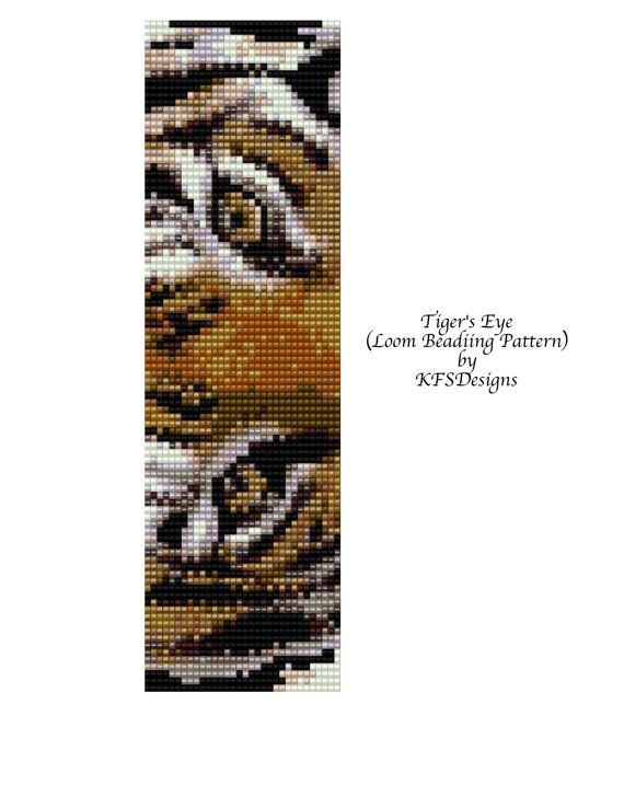 Eyes Seed Pattern Bead Loom