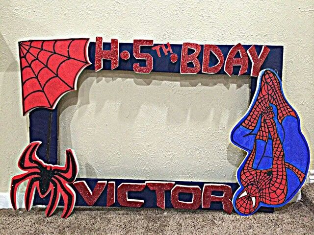 Spiderman Picture Frame Superheroes Pinterest