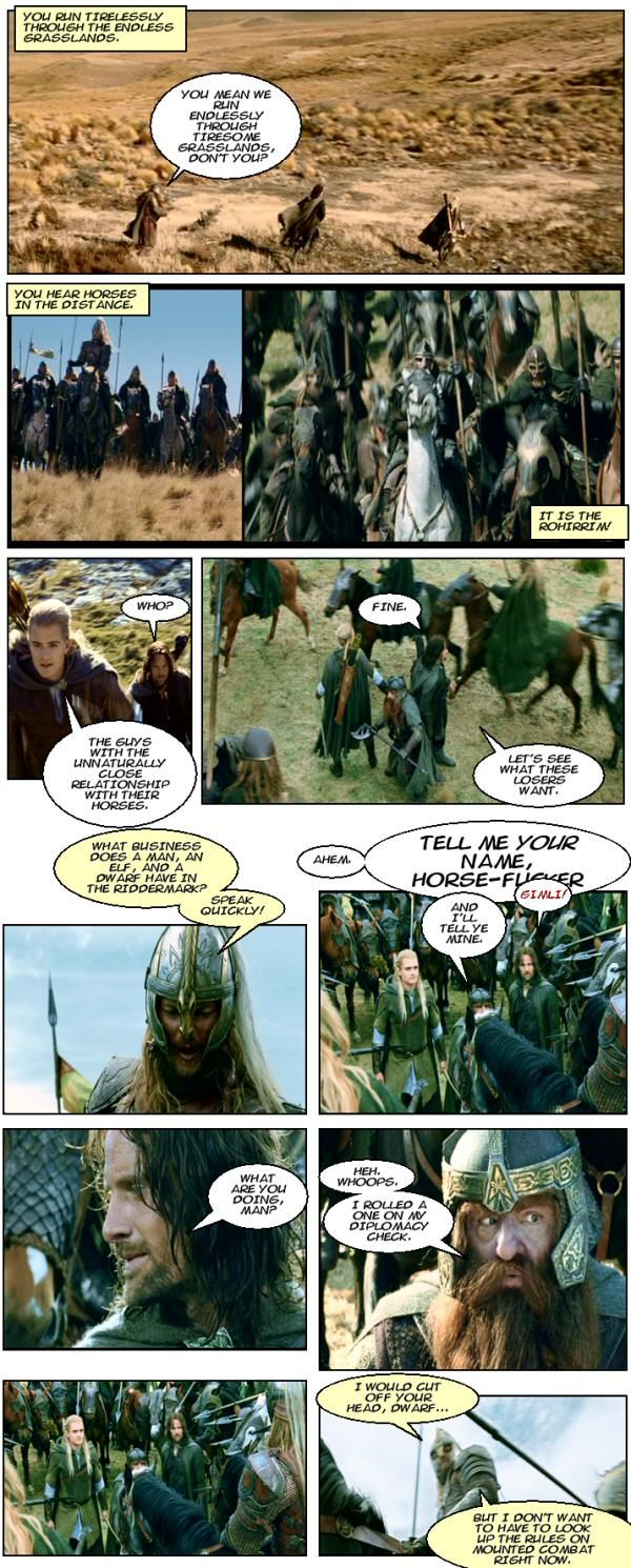 Lord Of The Rings With A Dungeons Amp Dragons Twist