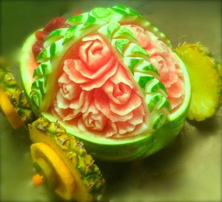 Fruit Carving Baby And Vegetables