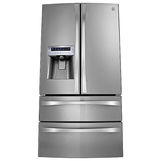 Bisque French Door Refrigerators With Freezer