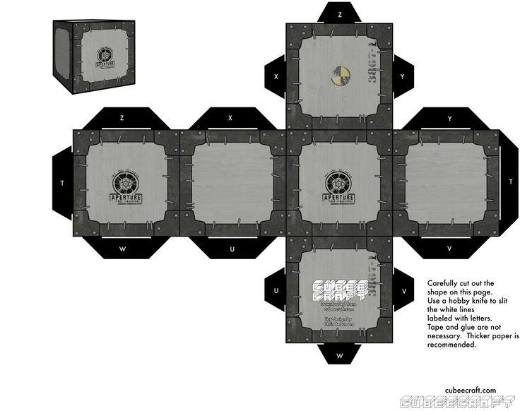 Cube Portal Papercraft Minecraft 2