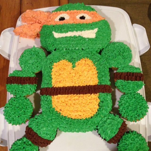 Turtle Cupcake Cake