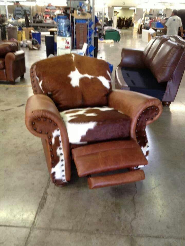 Cowhide Recliner Furniture Amp Lighting Pinterest