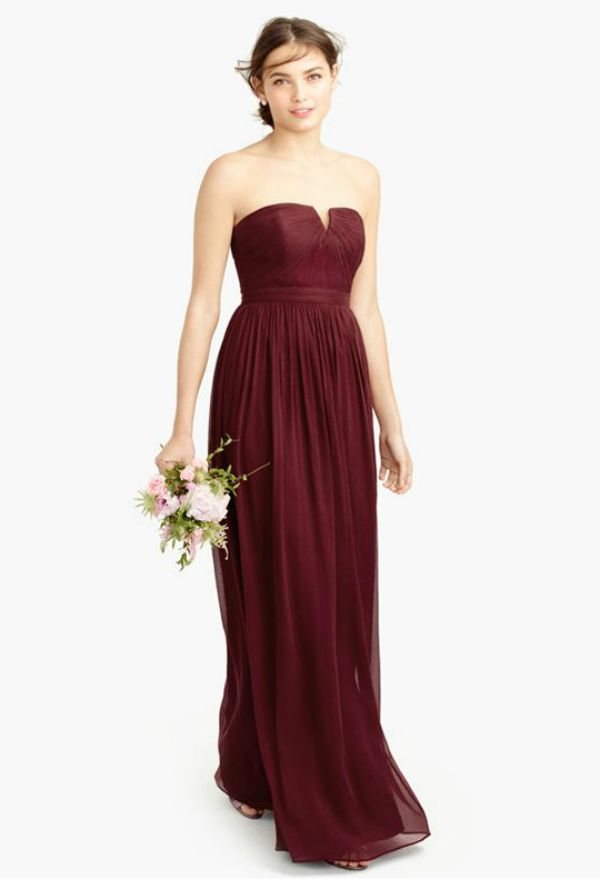 Girls Plum Colored Gown