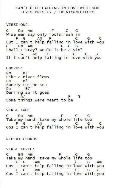 Chord Love T Can Help Falling