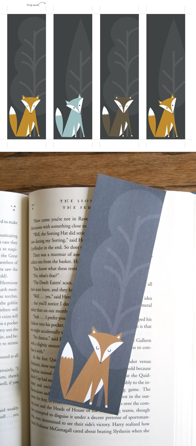 Fall Free Printable Bookmarks Color