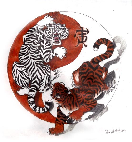 Meaning And Yang Tiger Dragon Ying