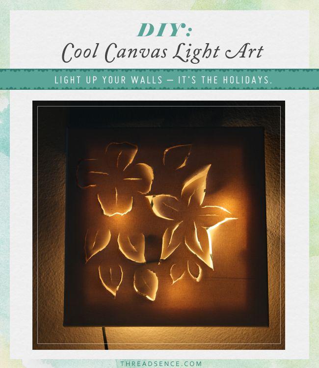 How Put Lights Canvas