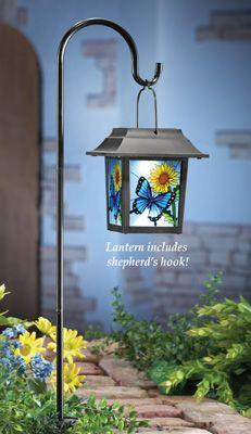 Solar Hanging Butterfly Lantern Stake Solar Powered