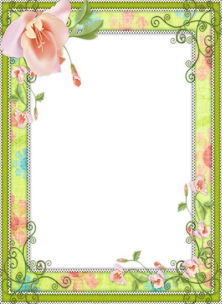 Light Green Transparent Flower Frame | Frames | Pinterest ...
