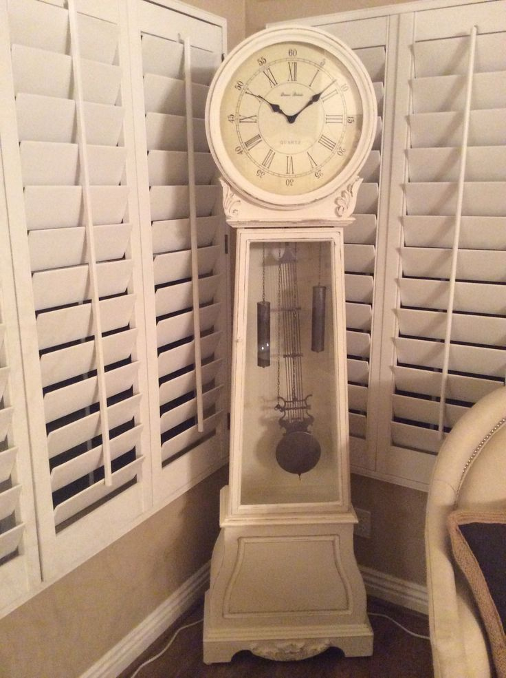 Shabby Chic Grandfather Clock Gingerly Vintage