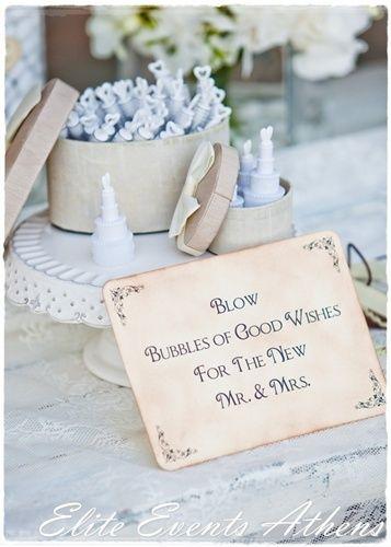 Navy Wedding Bubbles