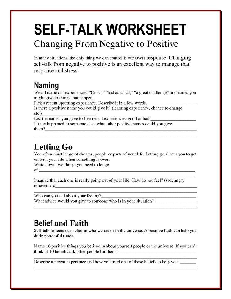 Self Esteem Improvement Exercises