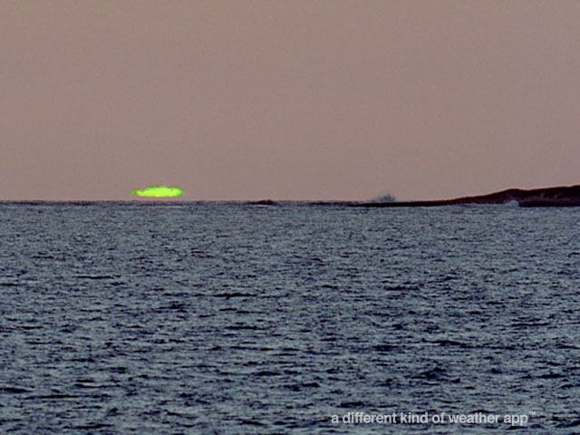 Rare Green Flash Sunset