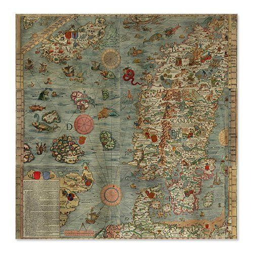World Maps Sea 1500s Monsters