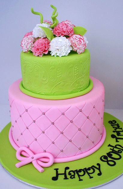 Two Tier 21st Birthday Cake