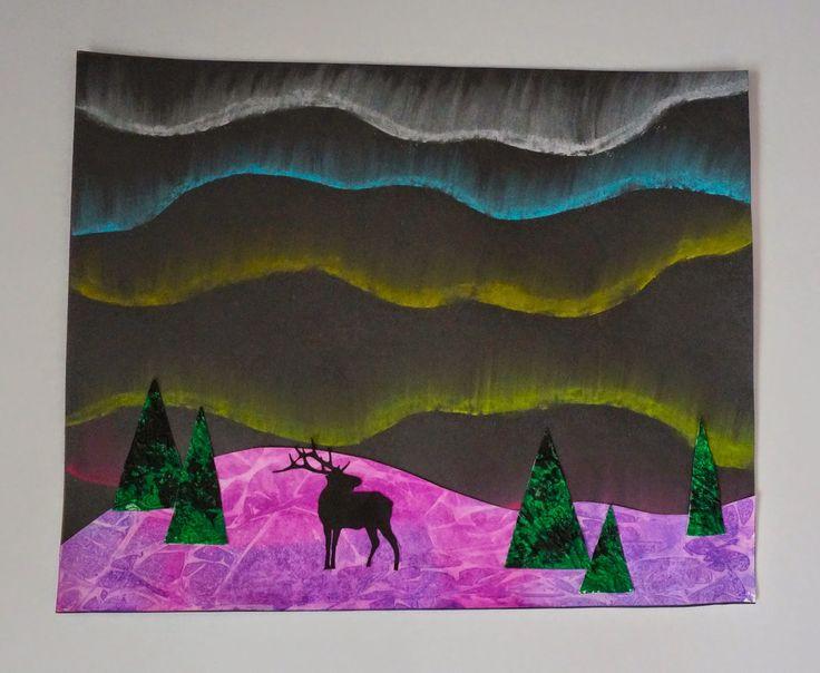 Northern Lights Art Lesson Plan