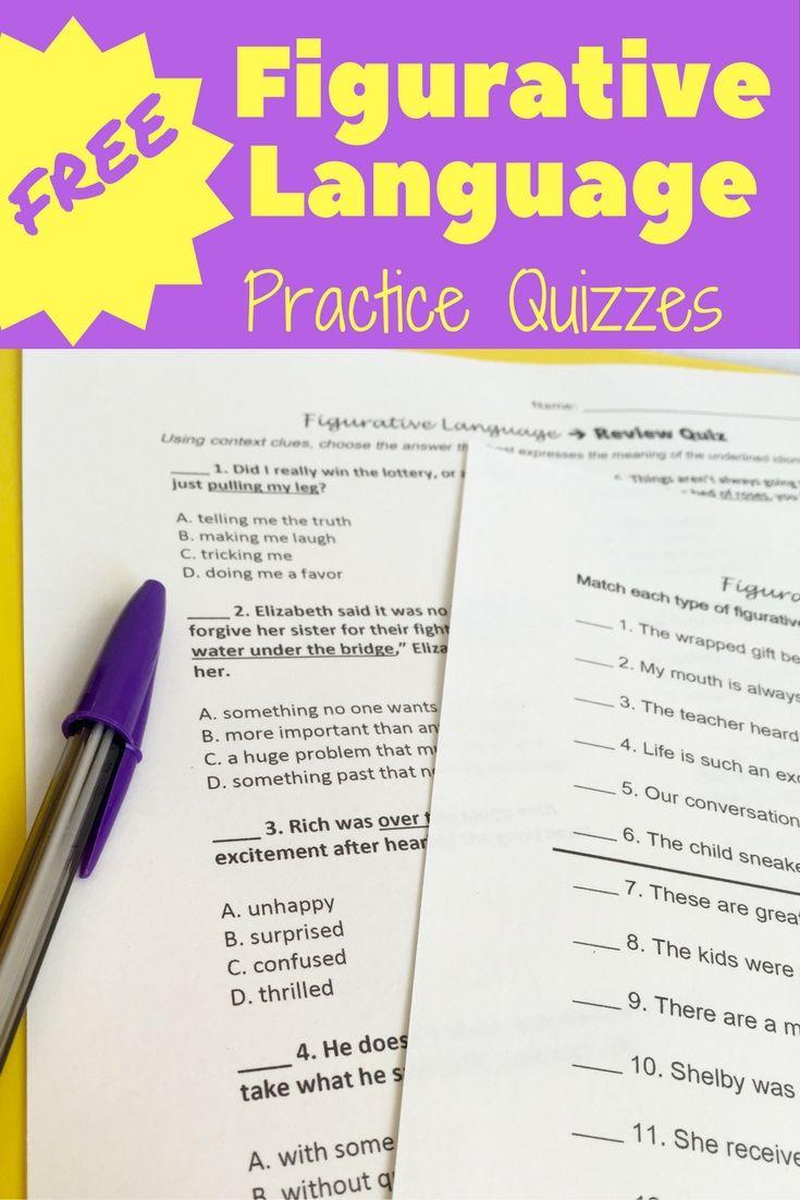Simile Worksheets Teachers