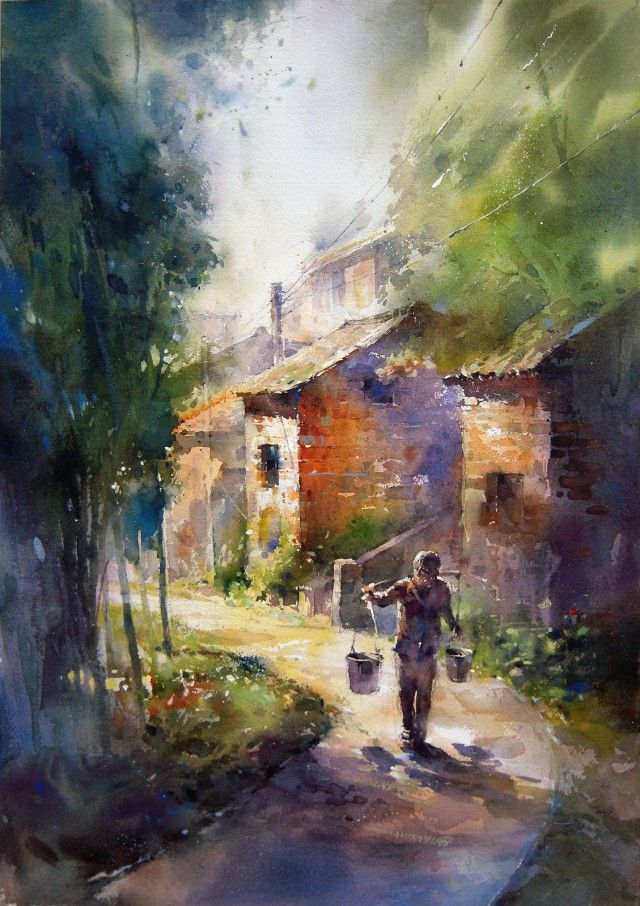 Gorgeous Urban Landscape Watercolor Paintings by Lin Ching ...