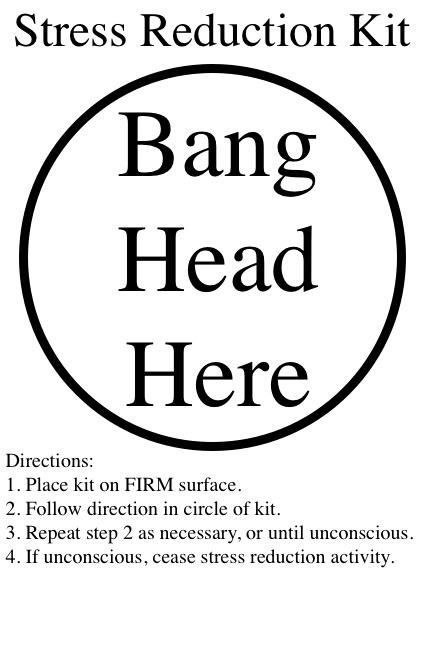 Procedure Stress Relief Funny