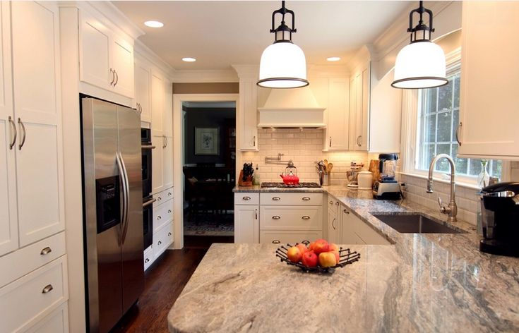 White Kitchen Light Floors