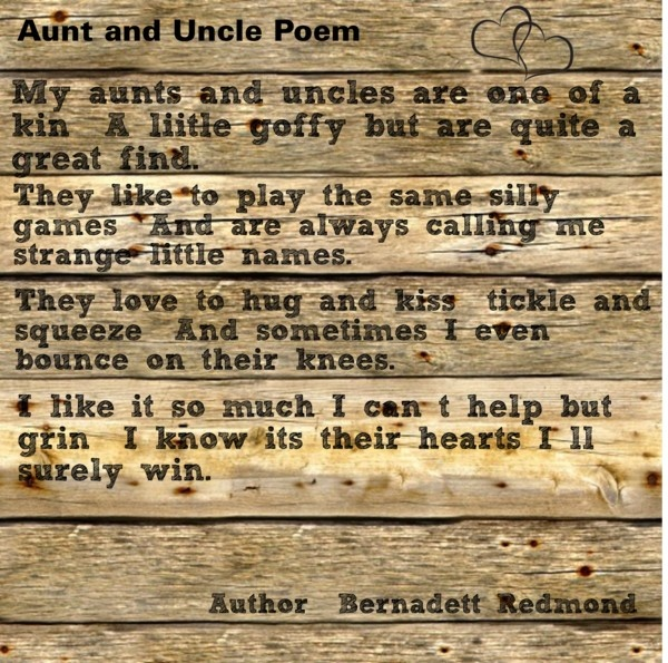 Birthday Sayings Aunt Uncle