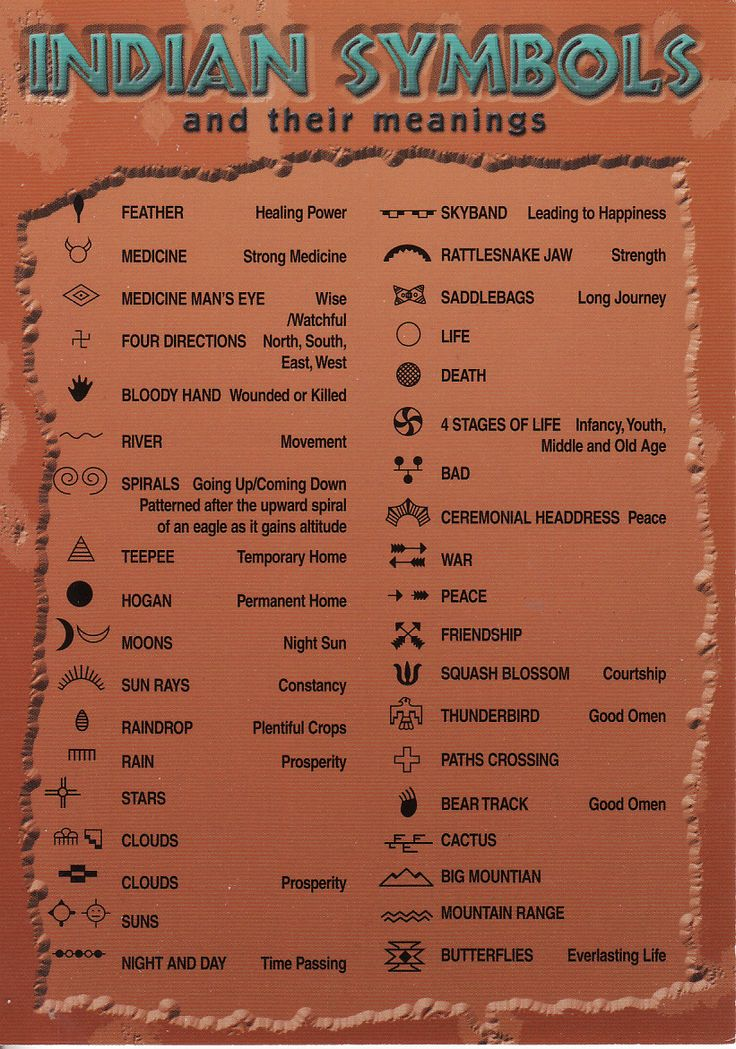 American Indian Symbols And Meanings