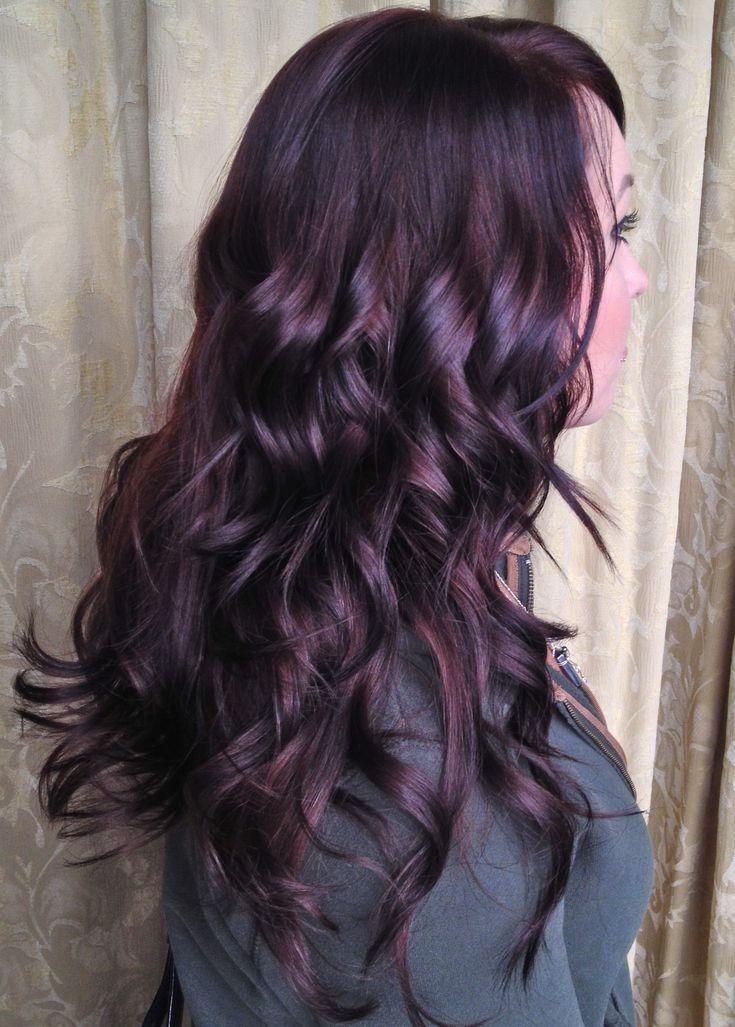 Gorgeous, shiny dark plum hair. Perfect way to add some ...