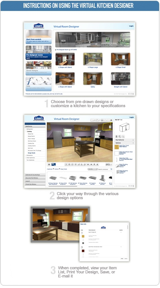 Virtual Kitchen Planner Online