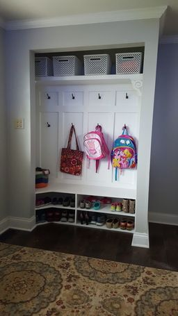 Closet Turned Into A Mini Mudroom Such A Clever Project