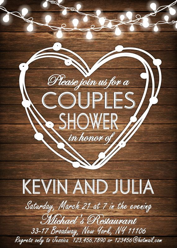 Couples Shower Ideas