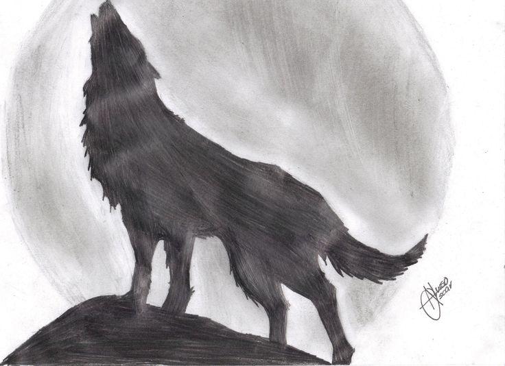 Dibujos A Lapiz De Lobos Con Alas