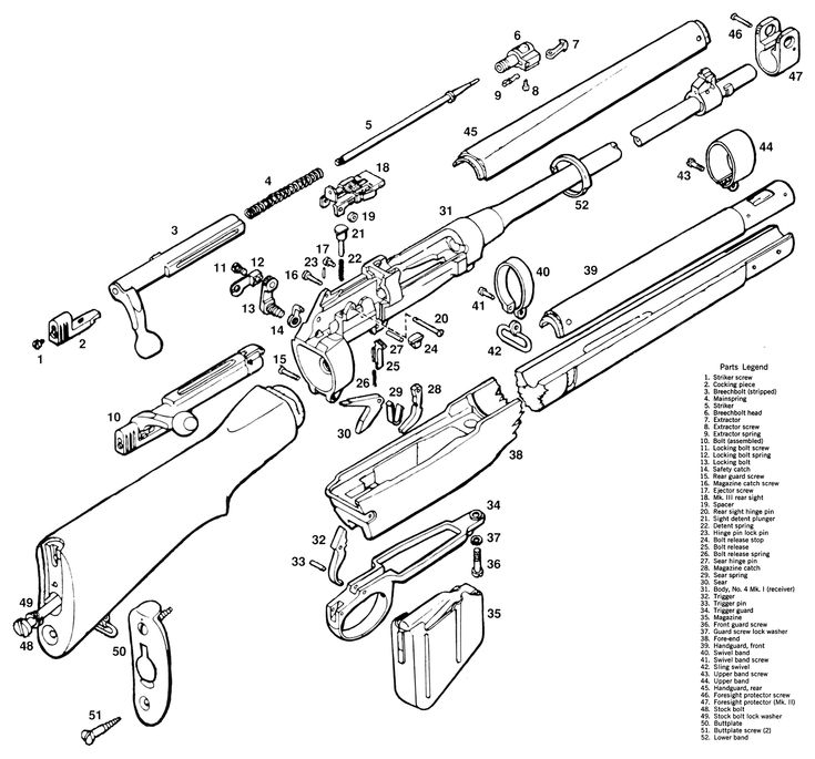 Universal M1 Carbine Parts Diagram