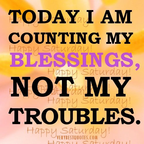 Counting Blessings Am My Not My Troubles Today I