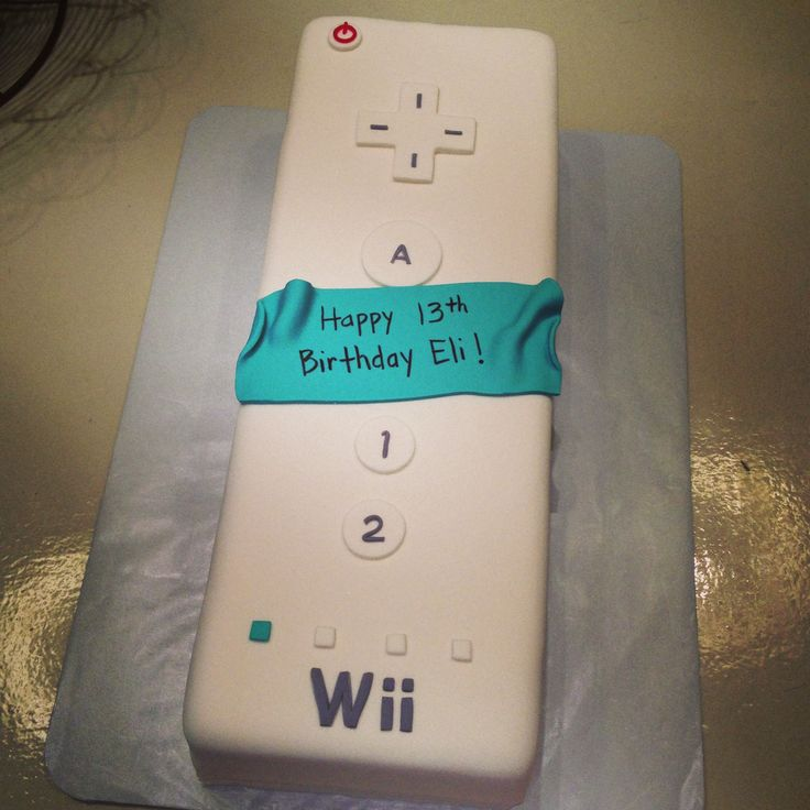 Wii Remote Control Gamer Video Game Cake 13th Birthday Boy