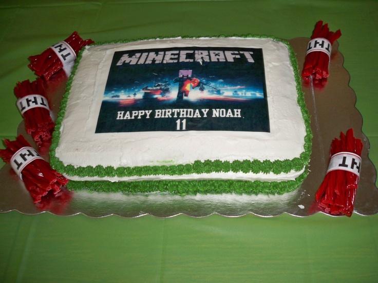 My Grandson Noah S Minecraft Birthday Cake Birthday