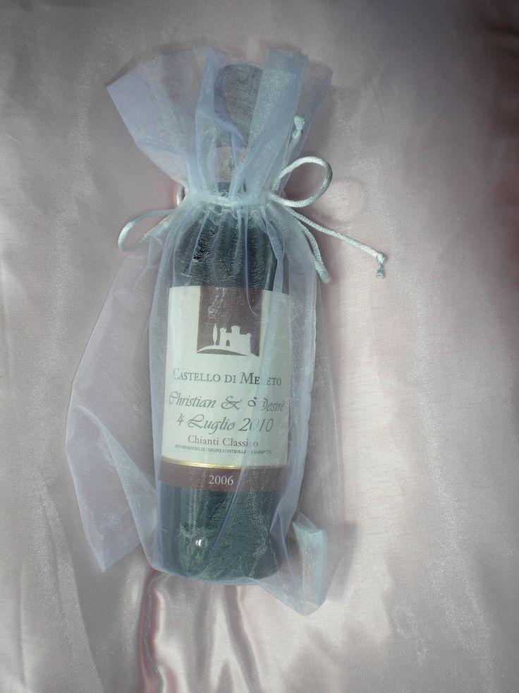 Mini Limoncello Wedding Favor Bottles
