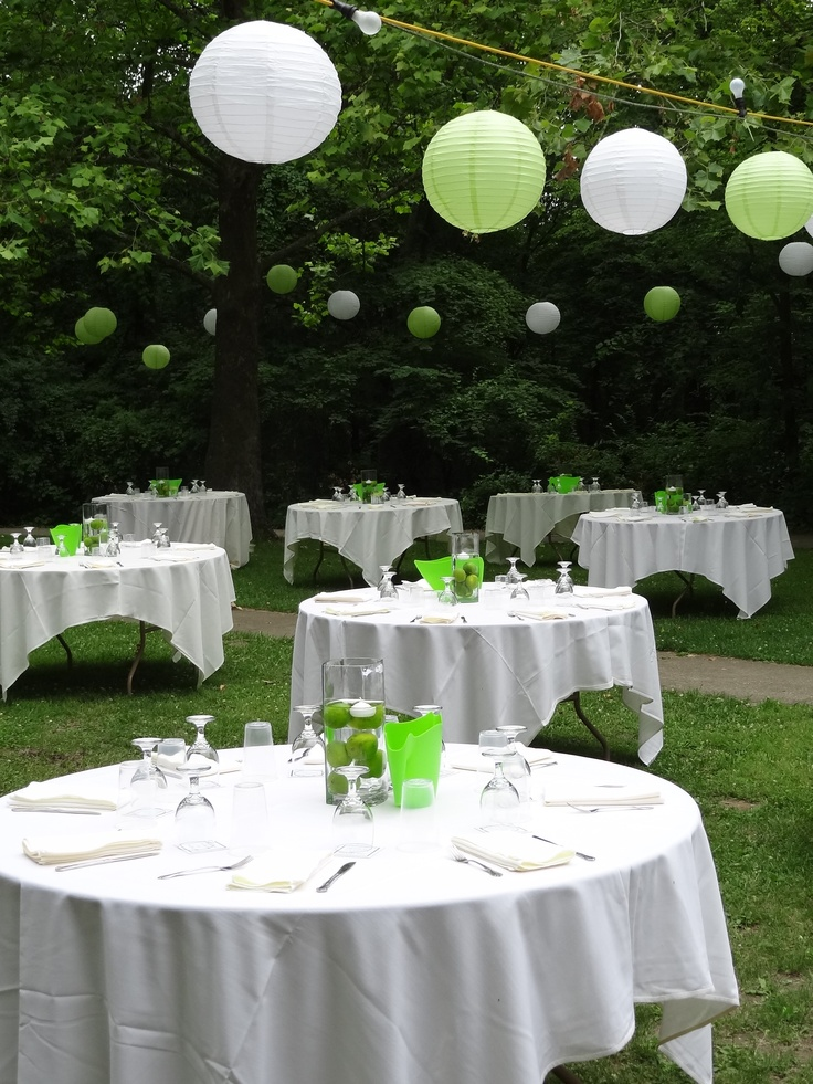 Outside Wedding Table Decorations
