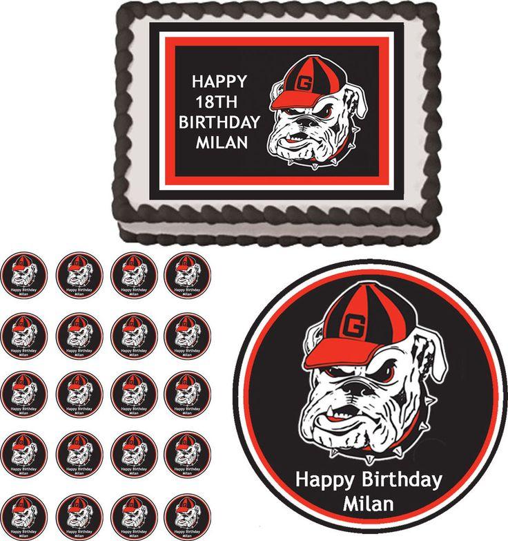 Cake Edible Decorations Georgia Bulldog