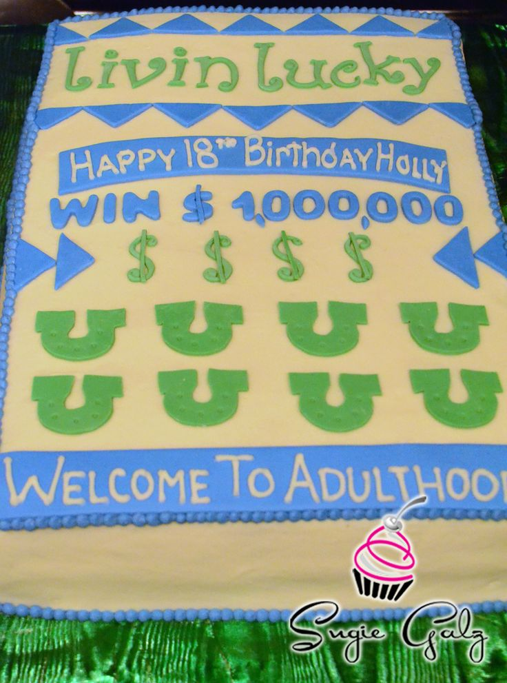 Scratch Off Lottery Ticket Birthday Cake In Austin Texas
