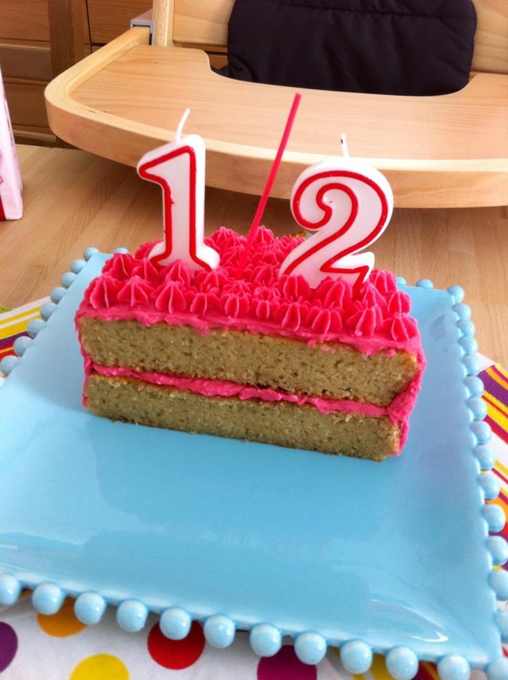 6 Month Half Birthday Cake