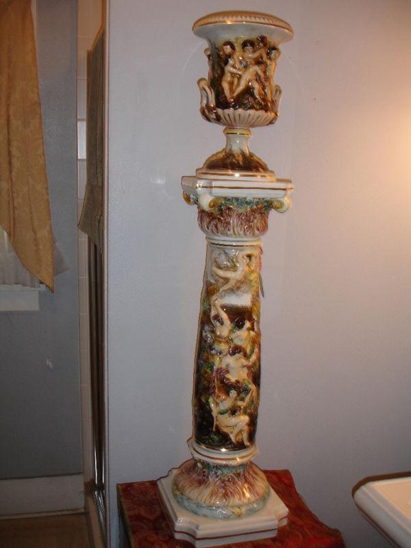 Beautiful Vintage Capodimonte Porcelain Urn Amp Pedestal