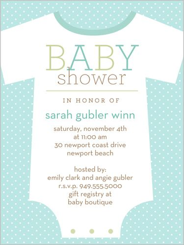 Baby Shower Invitations Design