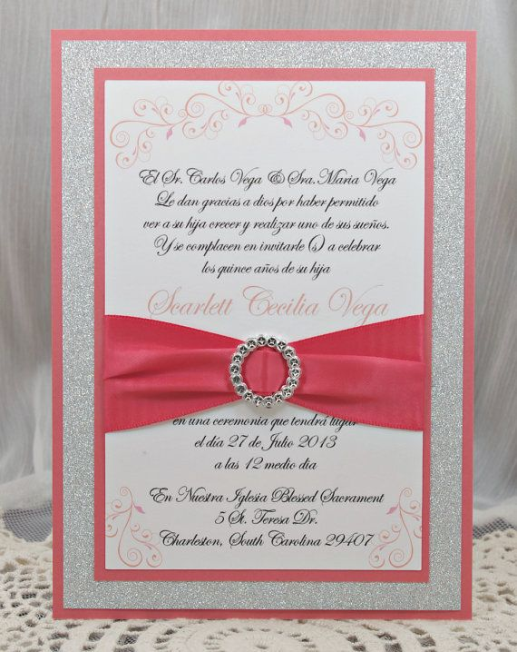 Custom Sweet 15 Invitations