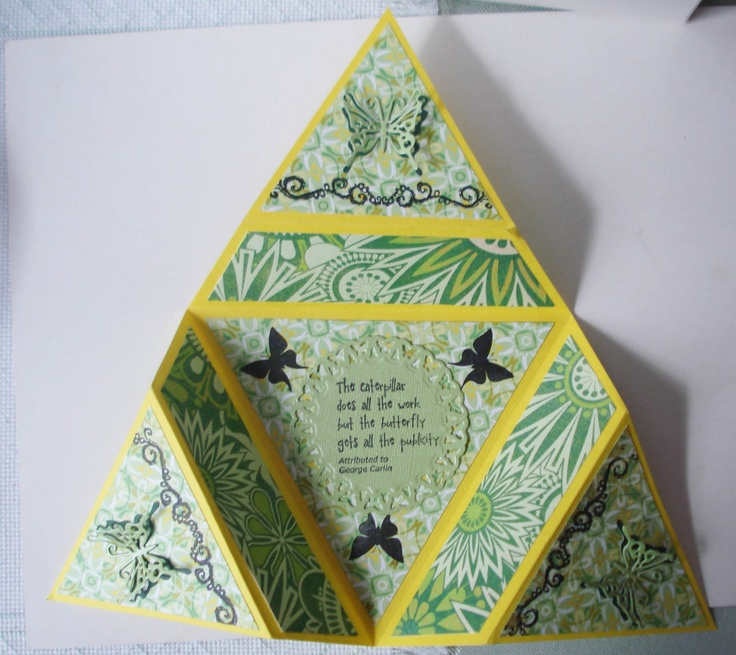 Card Star Folded Pop Out
