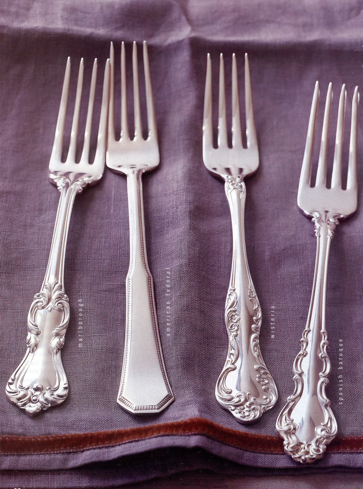 4 Silver Flatware Piece And Francis Barton I Sterling Setting Reed