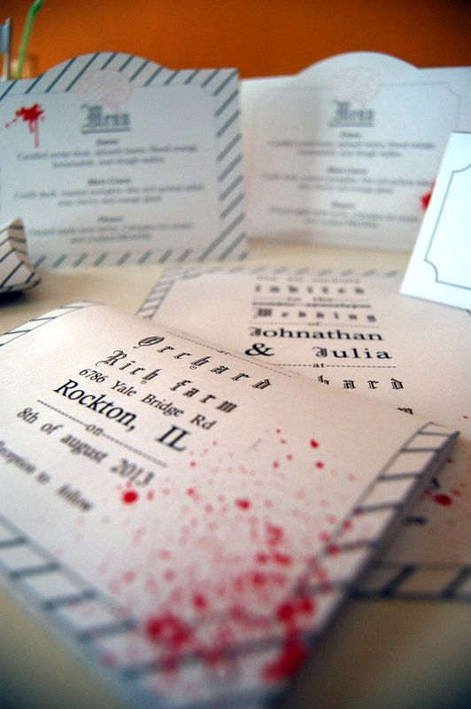 Cheap Zombie Wedding Invitations