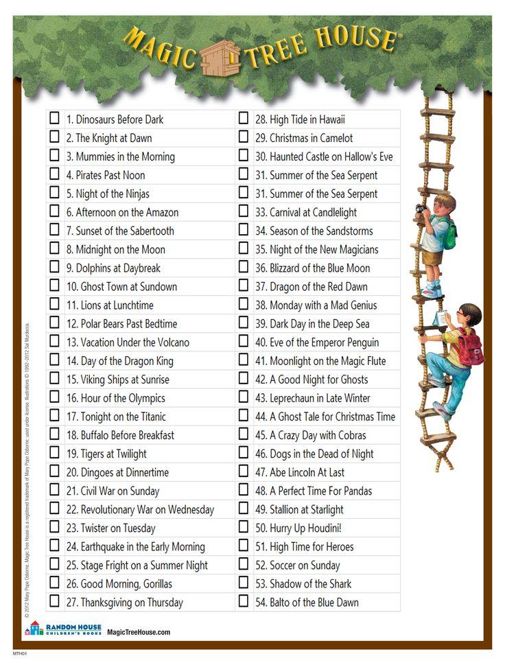 Magic Treehouse Books List Order