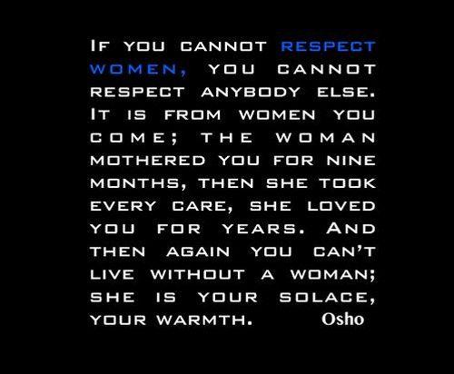 Should Respect Women Quotes Men